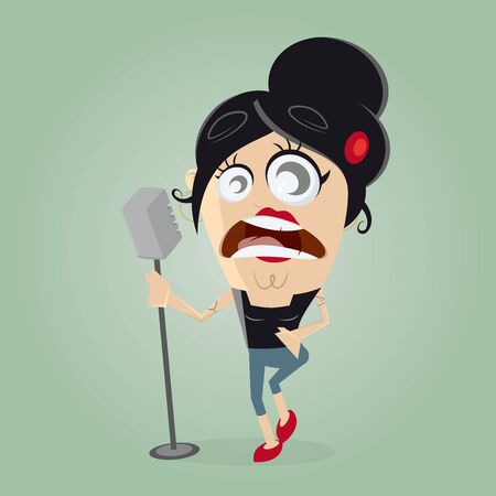 extravagant: female singer on microphone