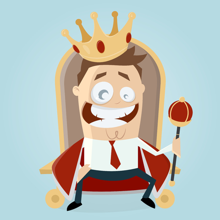 scepter: king on throne clipart