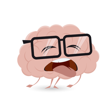 exhausted brain clipart