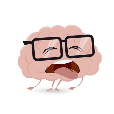 uitgeput hersenen clipart Vector Illustratie