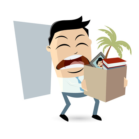 angry employee quit his job Illustration