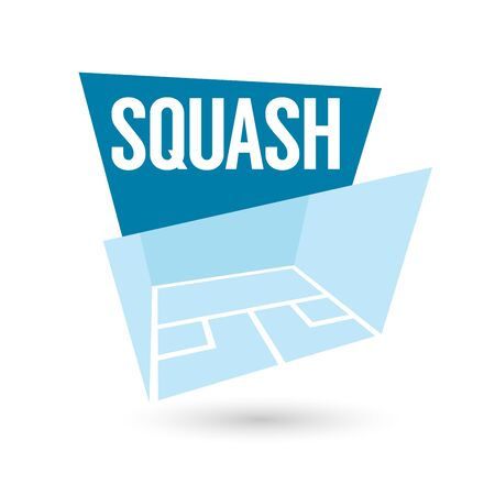 squash: modern squash sign Illustration