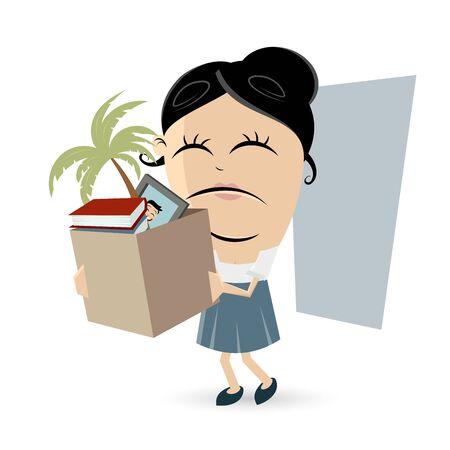 sad employee lost her job