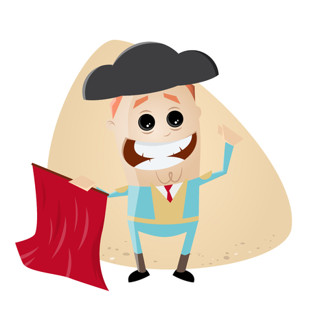 spanish matador cartoon clipart Ilustracja