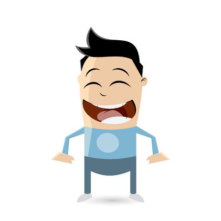 persona feliz: Clipart de un adolescente asiático