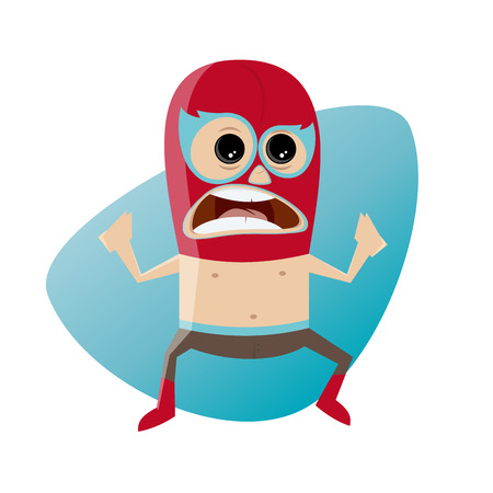 Mexican luchador wrestling clipart
