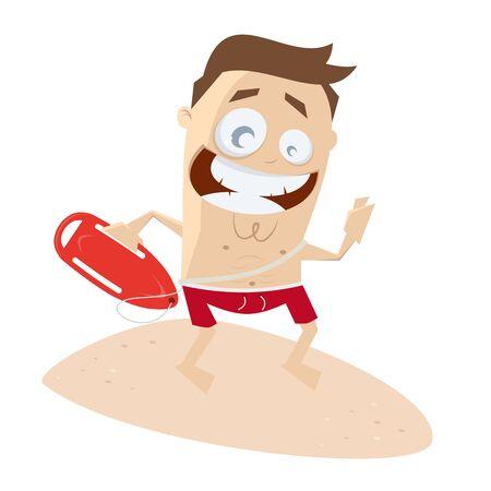 lustigen Cliparts von einem Rettungsschwimmer