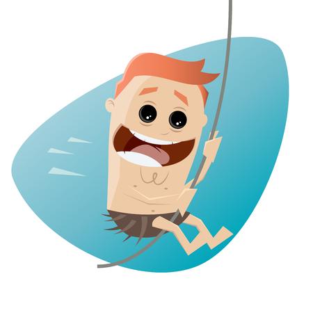 liana: funny man swinging on liana