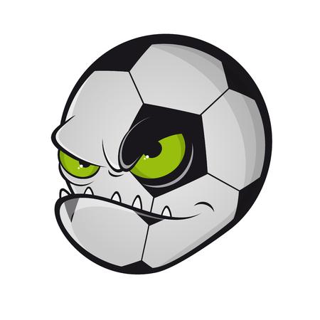 Böses Fußballmonster-Maskottchen Illustration