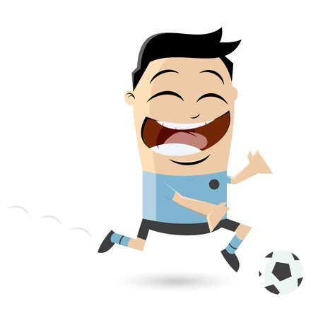 clipart of an asian football player Illustration