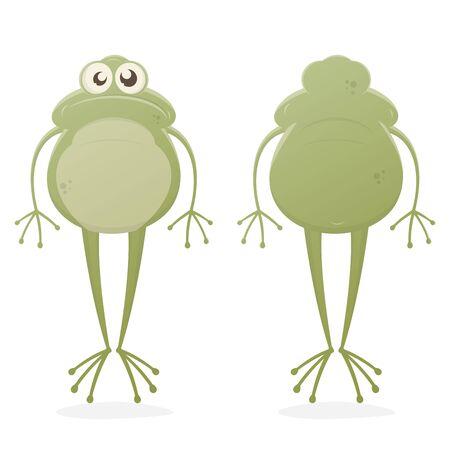 Lustige clipart eines frosches