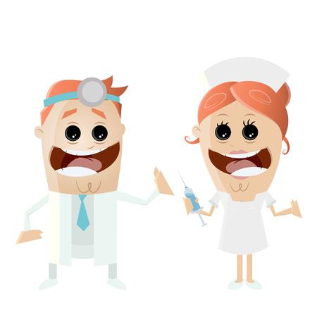 arzt und krankenschwester klinik medizin