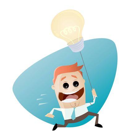 Smart Geschäftsmann mit Idee Ballon