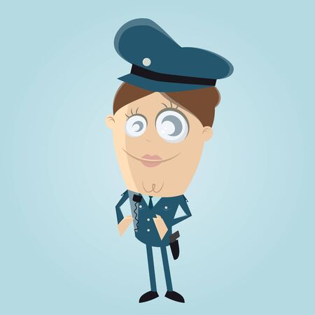 clipart of a female police officer Vectores