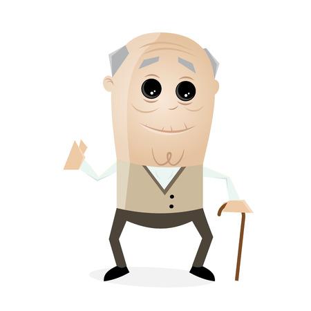 aging: clipart senior man Illustration