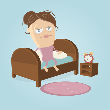Getting out of bed clipart Illustration