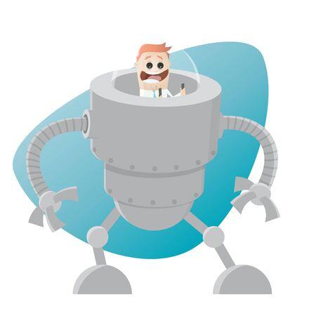 roboter retro cartoon Illustration