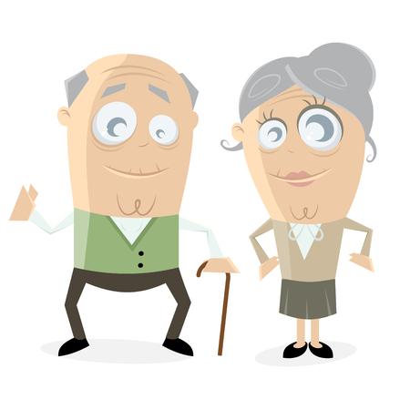 beckon: clipart of a happy senior couple