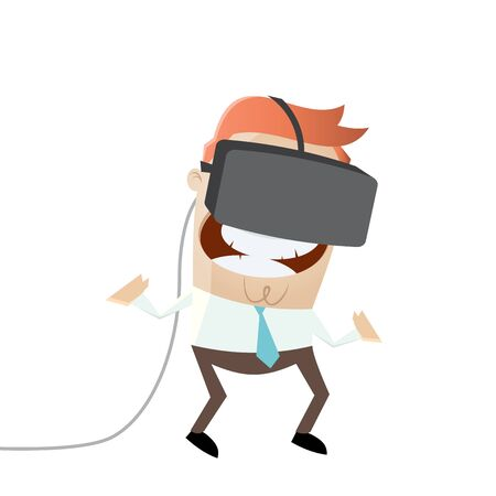 vr glasses virtual reality Illustration