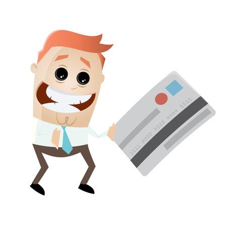 Geschäftsmann mit Kreditkarte Standard-Bild - 85215271
