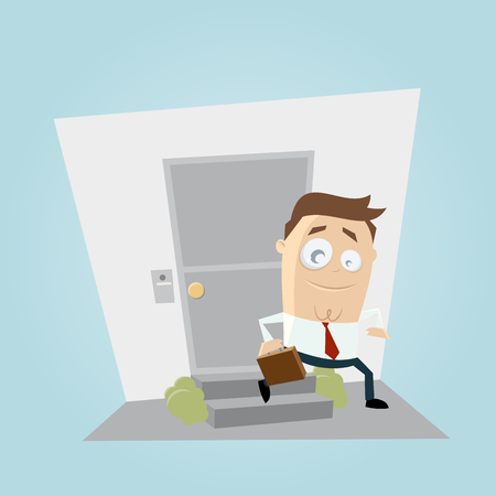 businessman leaving home clipart