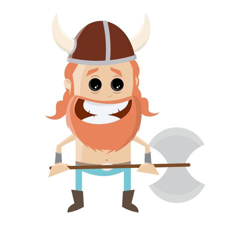 A funny cartoon viking