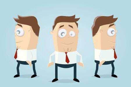 Lustige Geschäftsleute Team Illustration
