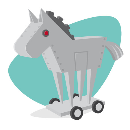 trojan horse robot clipart