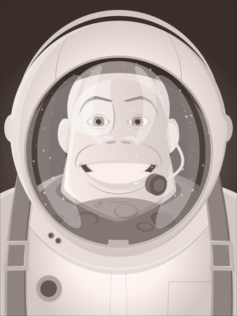 astronaut facing the moon