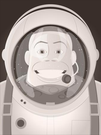 Astronaut mit Blick auf den Mond