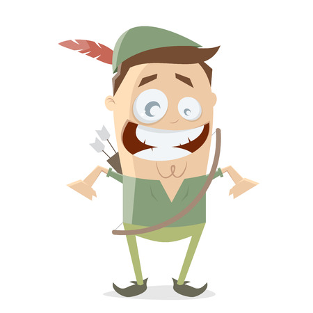 robin hood cartoon vector