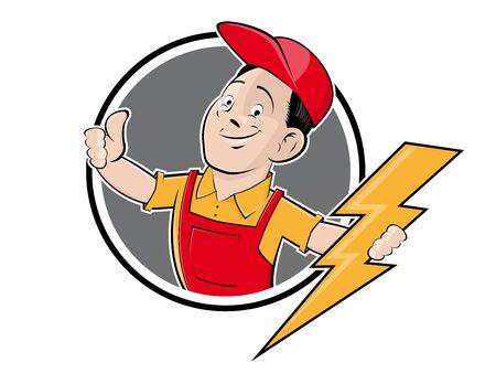Elektro-Firmenzeichen im Retro-Stil Illustration