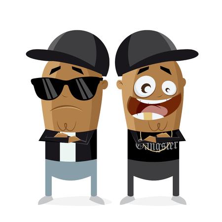 clipart of hip hop gangster rap crew Illustration