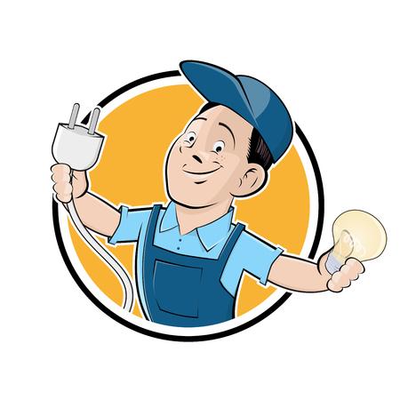 Glücklich Elektriker Zeichen Standard-Bild - 84826028