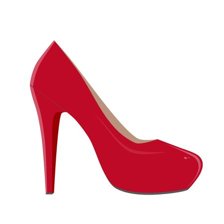 red shoe illustration Stock fotó - 84826036
