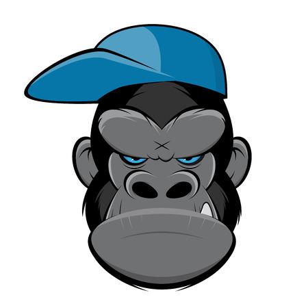 Angry Gorilla mit einer Mütze Standard-Bild - 84561839
