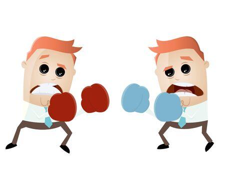 funny cartoon boxers fighting