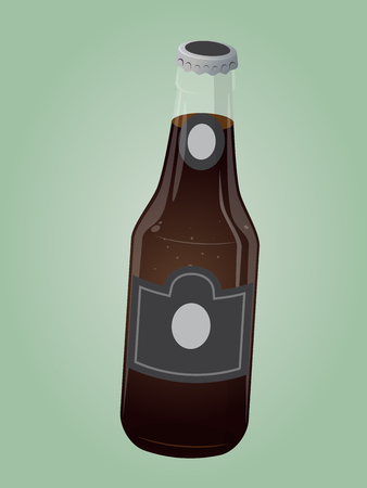 Retro cartoon soda bottle illustration. Illustration