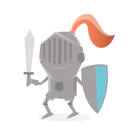 funny cartoon knight Illustration