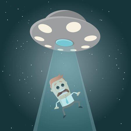 ufo abuction cartoon