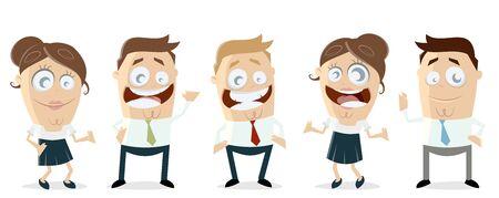 business team teamwork clipart Illustration