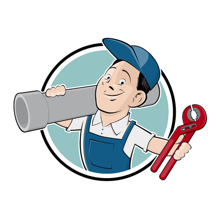 funny plumber sign Illustration