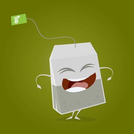 A funny teabag clipart  isolated on plain background.