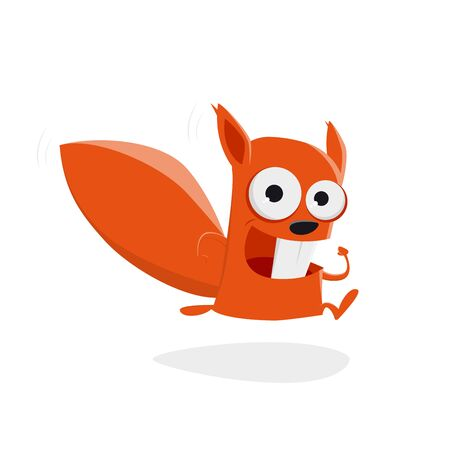 running squirrel clipart Stock Illustratie