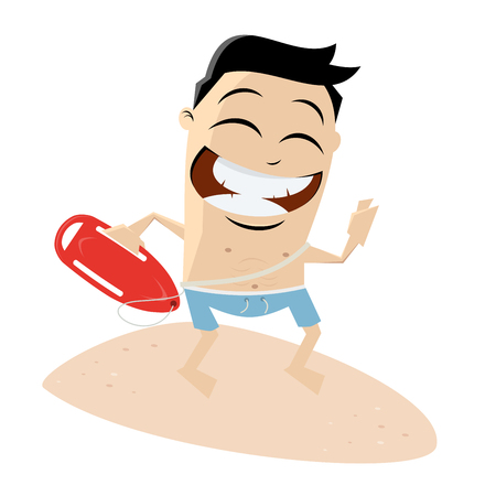 funny clipart of a lifeguard