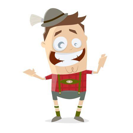 Bavarian cartoon man