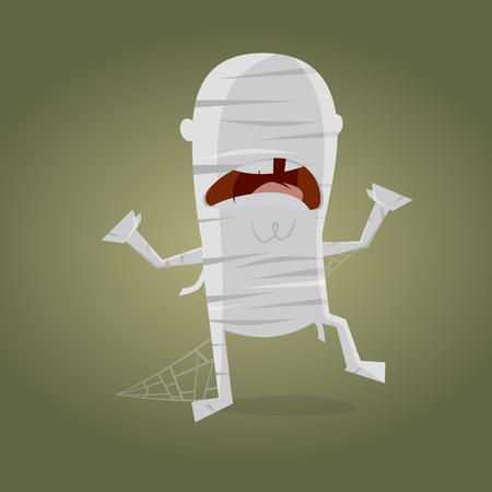 Funny cartoon mummy