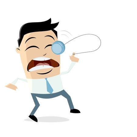 Yoyo accident businessman vector illustration design.