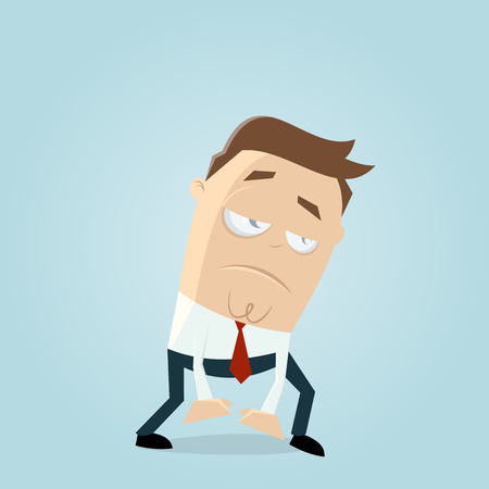 Exhausted or tired businessman Ilustrace