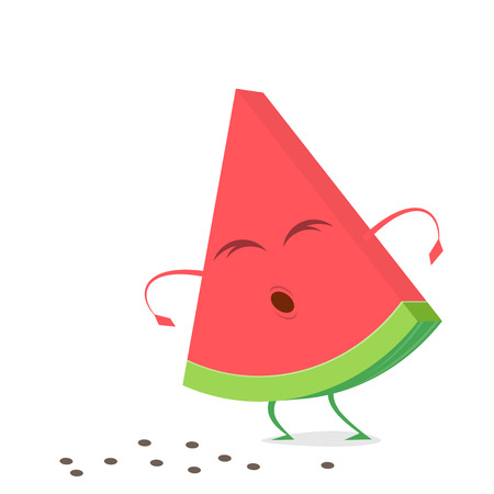 Funny watermelon lost its seeds clip art
